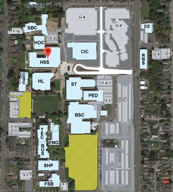 Oc Campus Map.Cte Course Locations Olympic College
