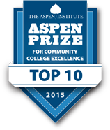 Aspen Prize logo - Olympic College is currently a top ten finalist for this community college excellence award