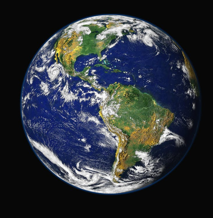 Earth From Space - Earth Week At OC - (Source pexels.com public domain photo)