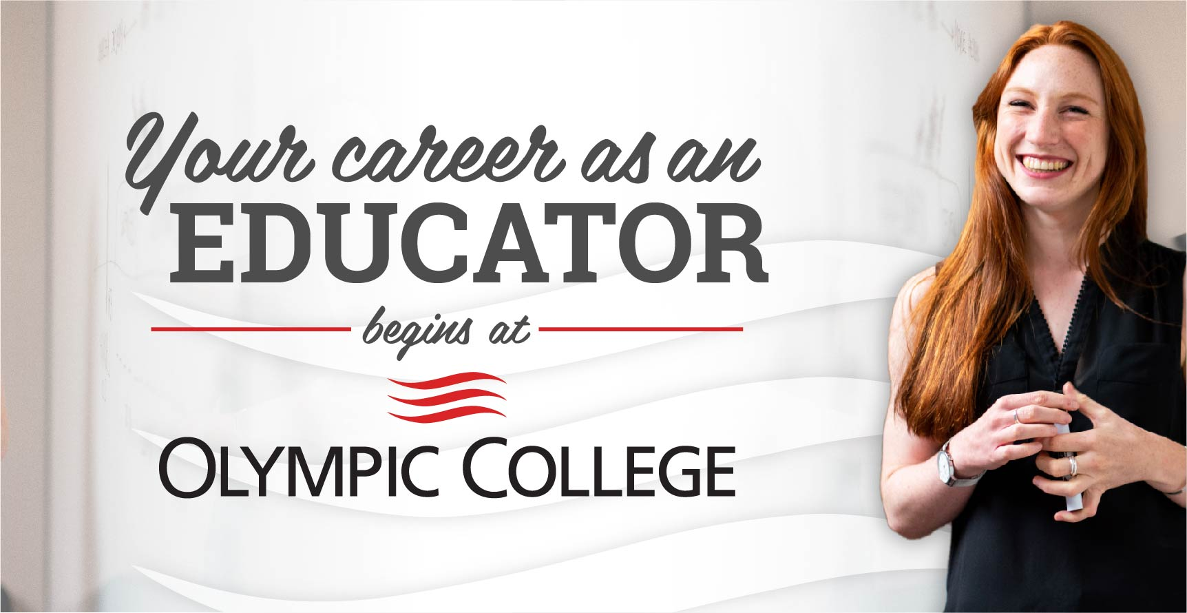 Your career as an educator begins at Olympic College