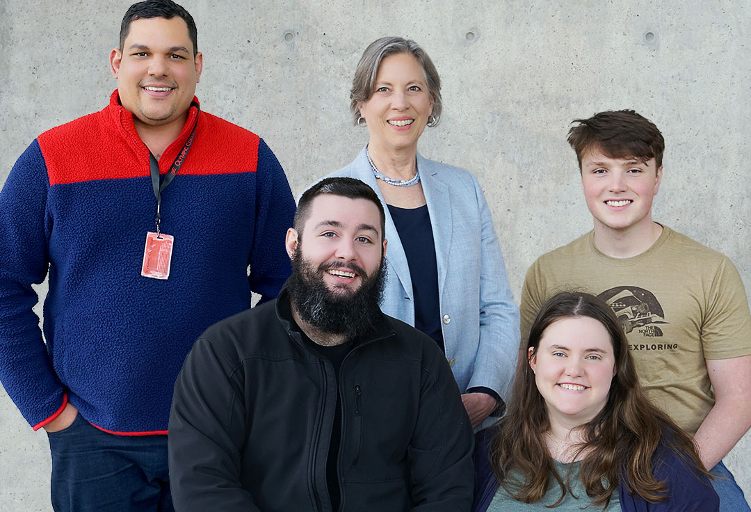 Five OC business students who participated in a business competition in Seattle