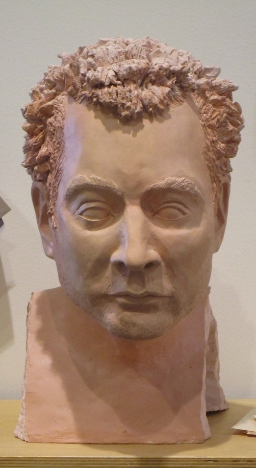 Sculpture of man's head - Clay Club Picture - (Source; Caleb Lizon)