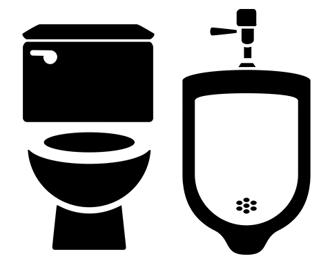 toilet and urinal graphic