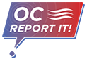 Olympic College Report It logo - links to reporting form