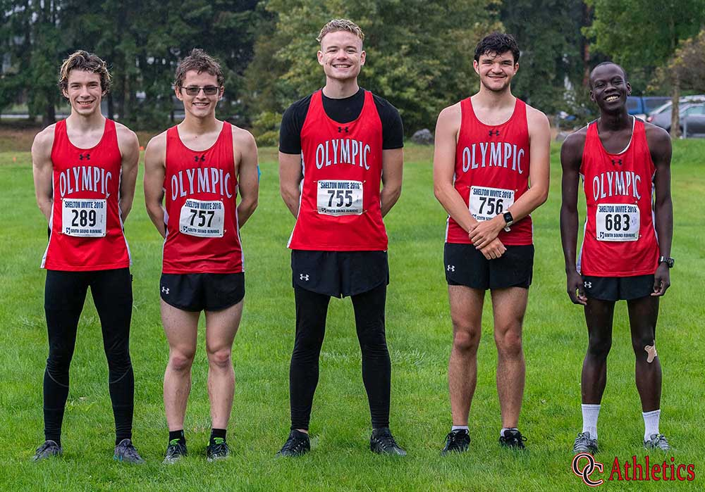 Olympic College Men's Cross Country team photo