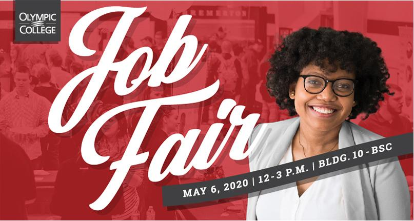 Image of student red overlay of people - Job Fair - May 6, 2020, 12-3pm, bldg 10-BSC