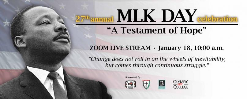 """27th annual MLK Day Celebration - """"A Testament of Hope"""""""