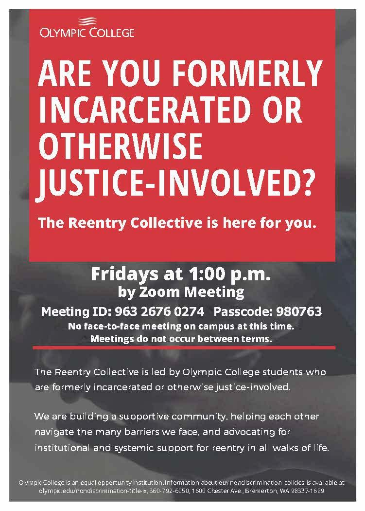 Reentry Collective - Friday's 1 - 2 pm by Zoom Meeting