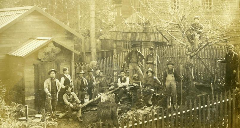 Men in Yama at Takayoshi's Photo Studio - Historic Photo Courtesy Bainbridge Island Historical Museum