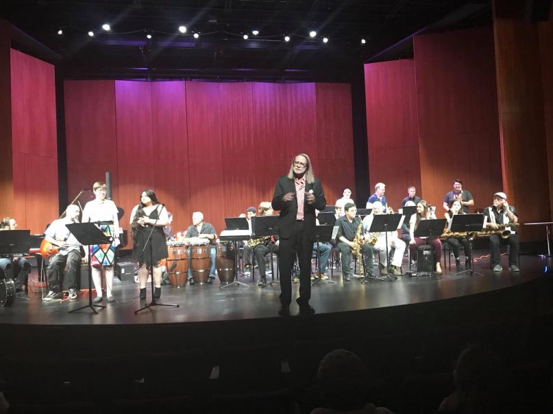 Jazz Band I, soloists, and director