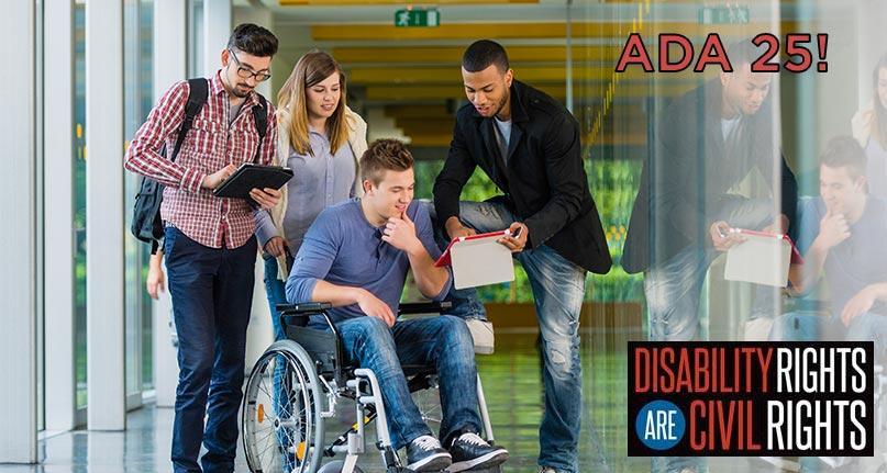 ADA 25! image with text Disability Rights are Civil Rights