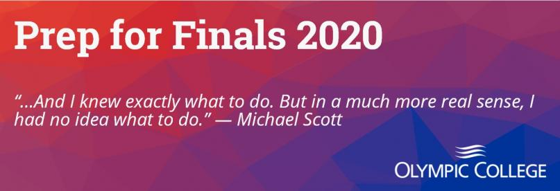 """Prep for Finals 2020. """"And I knew exactly what to do. But in a much more real sense, I had no idea what to do. Michael Scott"""""""