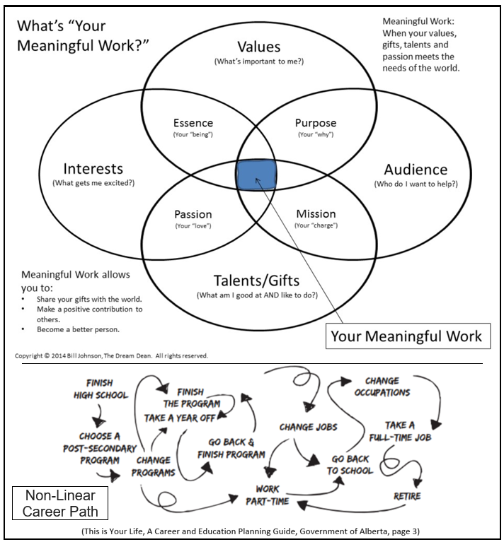 DEPICTS FINDING MEANINGFUL WORK vs Non-Linear Career Path