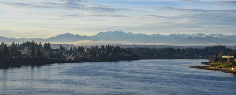 Olympic Mountains from Bremerton.