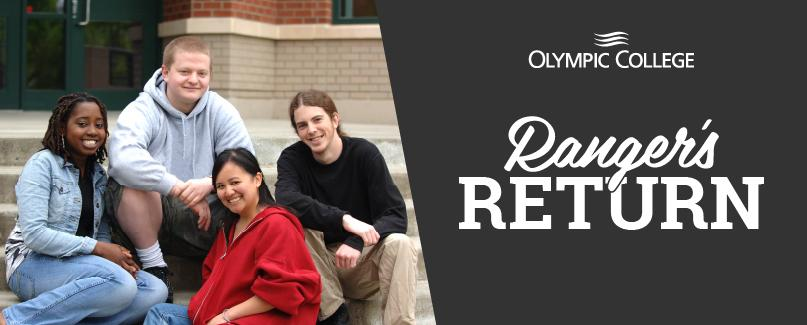 Ranger's Return logo with a photo of smiling students