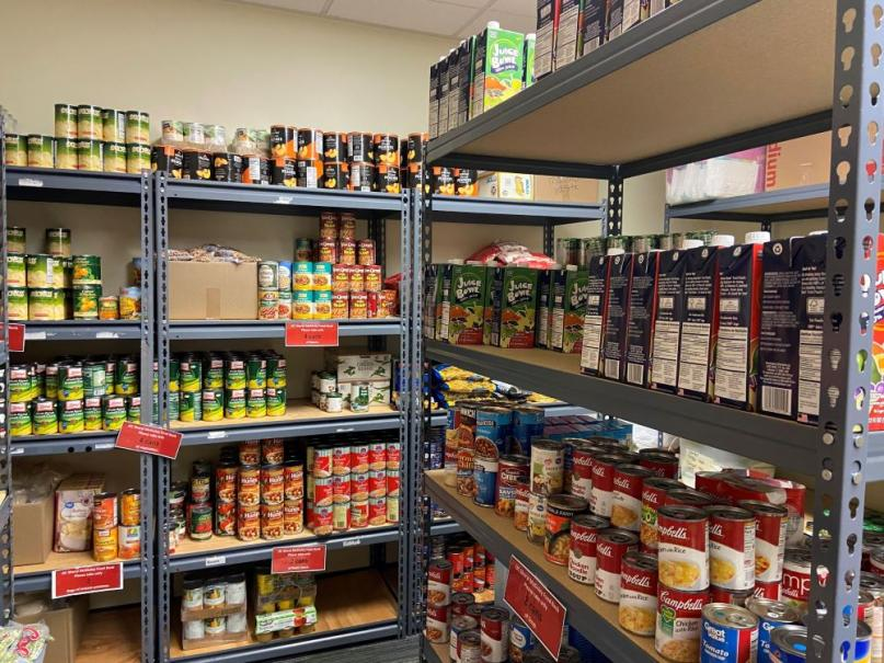 Inside View of the Sheryl McKinley Food Pantry