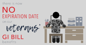 there is now no exp date on our veterans gi bill benefits