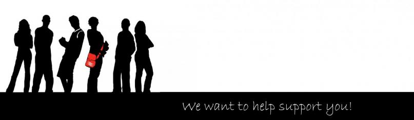 Silhouette image of students with the message - we want to help support you