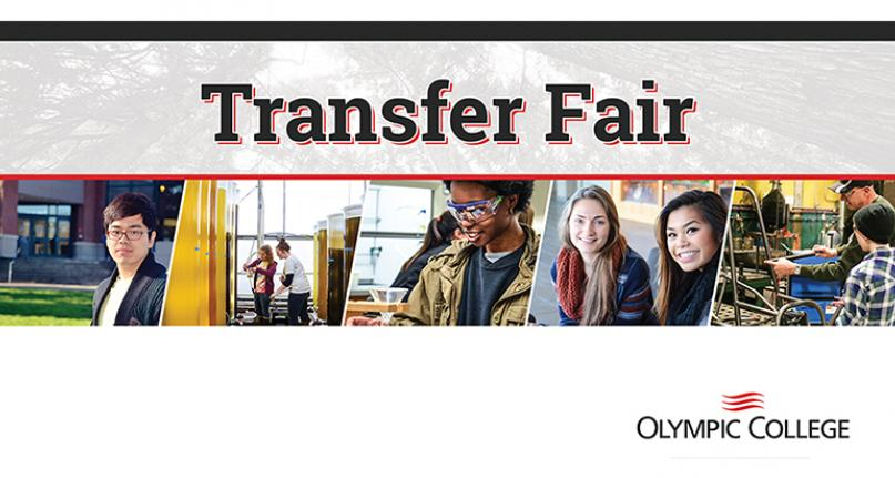 Transfer Fair at Olympic College. Pictures of OC Students.