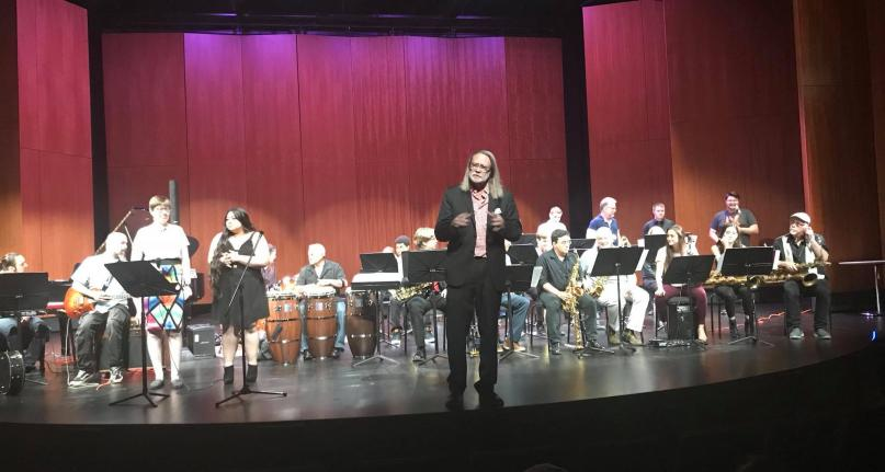 William D. Harvey Theatre at Olympic college, band ensemble on stage