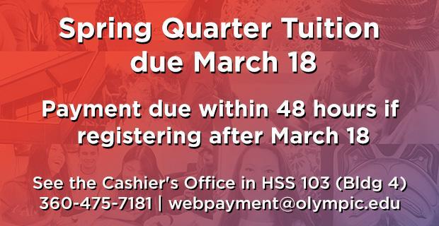Spring quarter tuition due March 18
