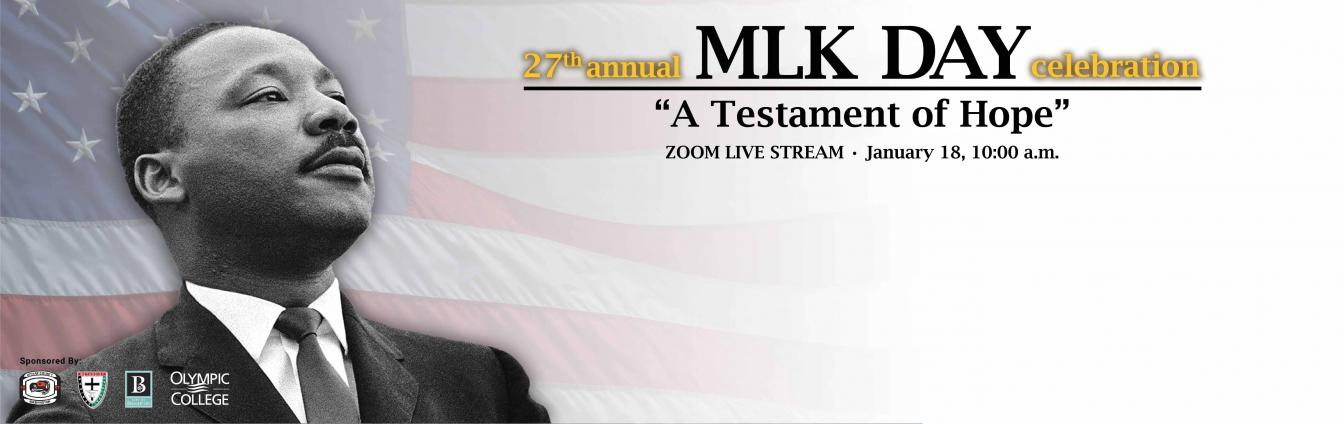 """27th Annual MLK Day Celebration - """"A Testament of Hope"""" - Zoom live stream, Jan. 18, 10 a.m."""