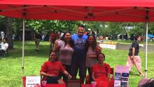Odessa Kawai at the Olympic College Juneteenth booth.