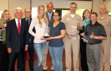 OC presents AACC award to PSNS.