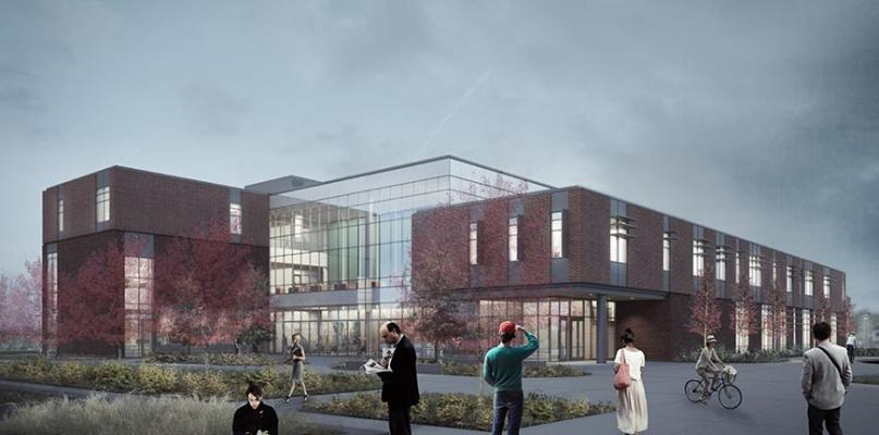 College instruction center rendering.