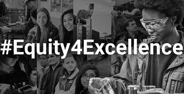 Collage with #Equity4Excellence